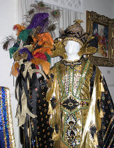 Lafayette -- Alexandre Mouton House, Mardi Gras costume display