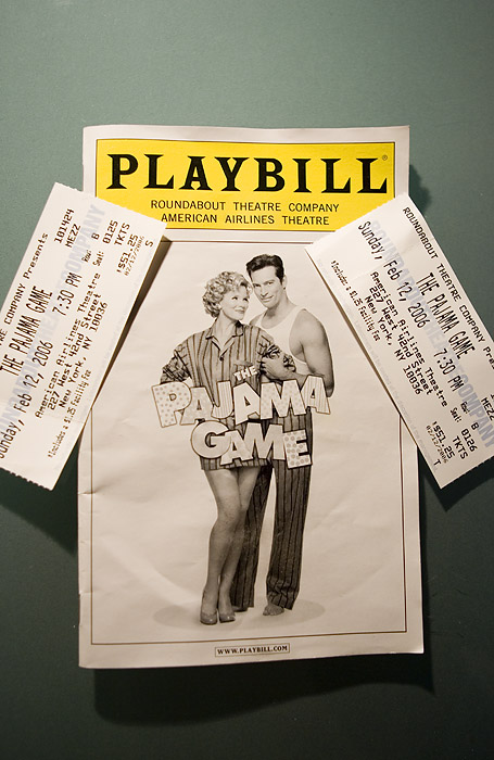 THE WAIT WAS WORTH IT!  TICKETS TO THE PAJAMA GAME STARRING HARRY CONNICK, JR.