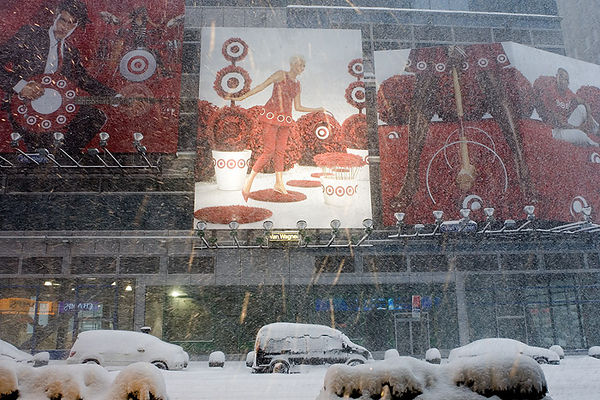 SNOWSTORM AT TIMES SQUARE