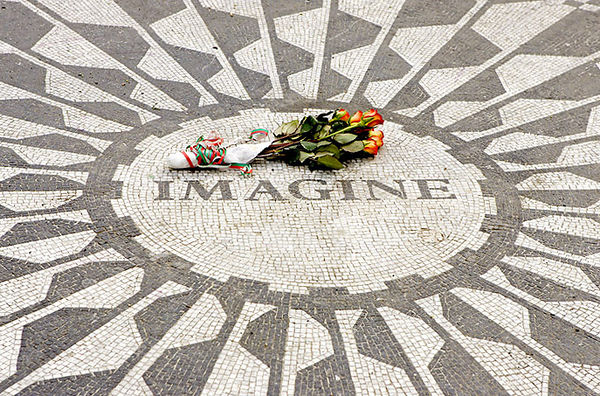 STRAWBERRY FIELDS (JOHN LENNON MEMORIAL) IN CENTRAL PARK