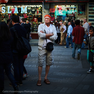 2015 __New York City_A face in the Crowd, Times Square