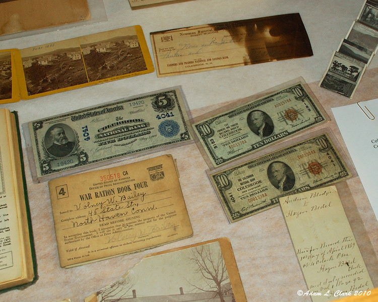 Money at the Historical Society that was printed in the early 1900s (1900-1930)