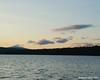 Nearing sunset Monday on the lake