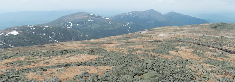20150522.   Cog Railroad track on Mount Washington, New Hampshire.