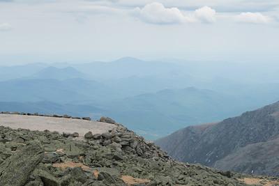 20150522.   Parking lot at peak of Mount Washington, New Hampshire.