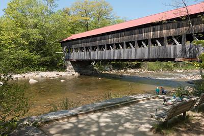 20150524.  Passaconaway Road covered bridge over Swift River, just before Kancamagus Highway, New Hampshire.