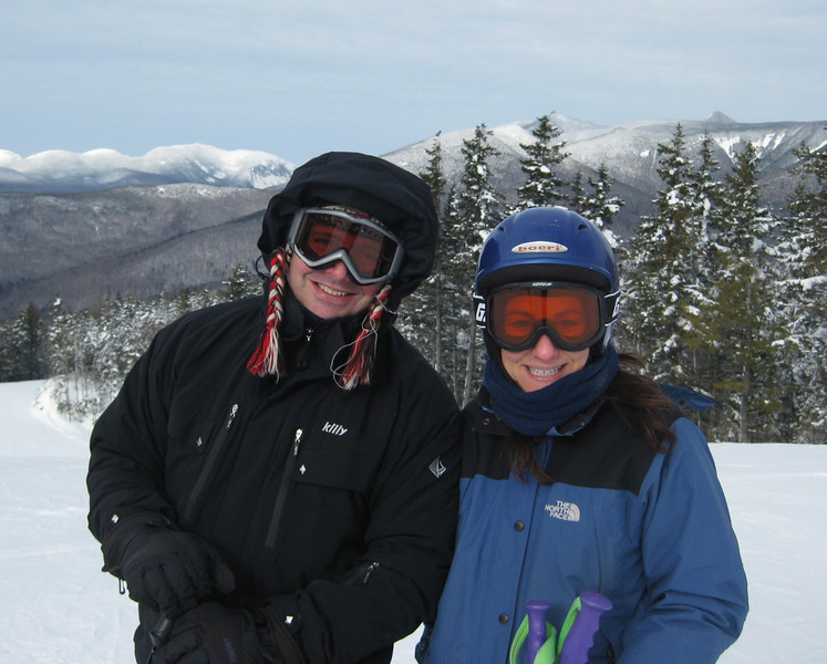 """Turns out this is a picture of Rebecca and me on our first date.  I later proposed in Park City, UT, wearing the same hat.  Rebecca's smile looks cautious here.  I straightened-up the hat a little, and she said """"yes.""""  - Photo courtesy of Alicia Goldstein."""