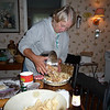 Cindy making apple pie with Cortland apples