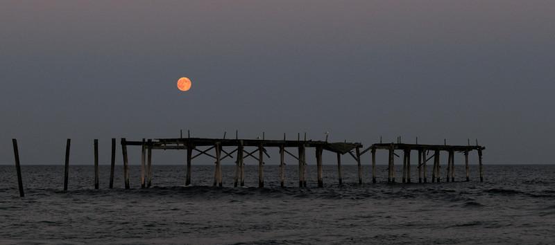 Harvest Moon Over 59th St Pier, Ocean City, NJ<br /> (September)