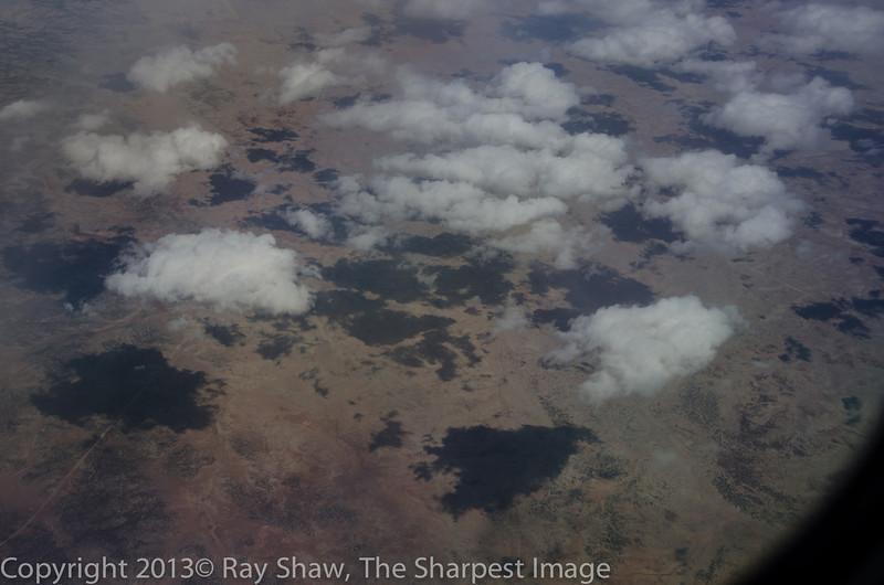 Southwest Air flight LAS-ABQ from left side