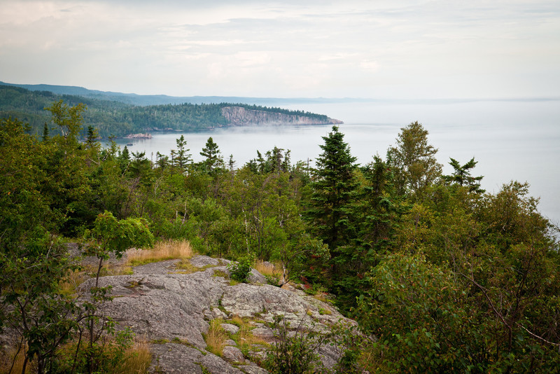 SHOVEL POINT AND TETTEGUCHE STATE PARK, MN. AS SEEN FROM PALISADE HEAD