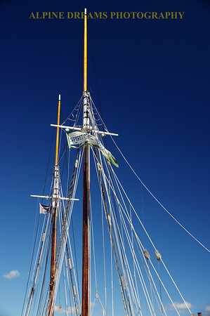 MASTS & RIGGING WITH BLUE SKIES