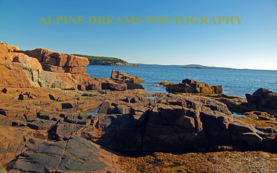 BIRDS ROCKS SEA SKY ACADIA