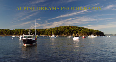 LOBSTER BOATS AT REST BAR HARBOR