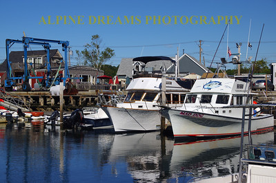 BOATS AT THE READY IN KENNEBUNKPORT