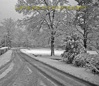 The Snowstorm as seen from the Crystal Brook in Black & White!