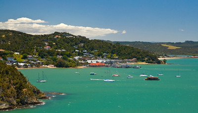 Aerial view of paihia waterfront, Bay of Islands, New Zealand 2