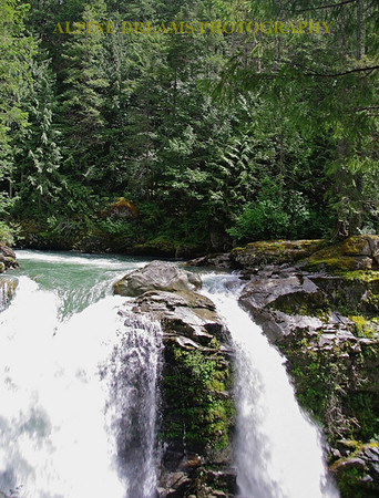 A shot of Nousack Falls near bellingham Wa.