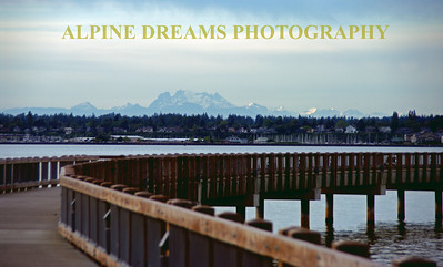 This Boardwalk promenade had some of the neatest scenery imaginable near Fairhaven/Bellingham in Washington state. Check out the Canadian border and mountains in the background.