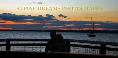 These two young lovers are sitting on a deck at a coffee shop on the Puget Sound near Fairhaven Wa  about 9:30 at night. How is that for a Romantic backdrop?