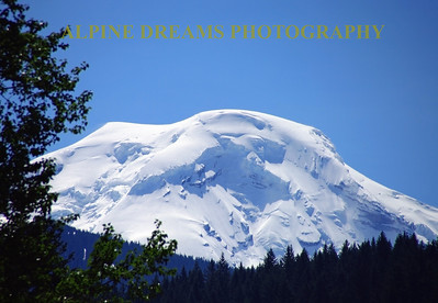 I wanted to check out Mt Baker on our  Northwest trip.  This beautiful Peak  was very near to Mt Baker in early June. The cornices on the Domed peak were huge.