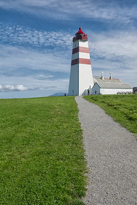 Alnes lighthouse and museum on Godoy island in Giske