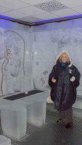 Ice bar in Bergen. Even the glasses are made of ice!