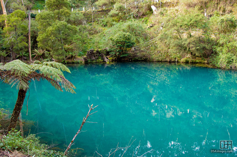 The blue lake near the Jenolan Caves, the Blue Mountains