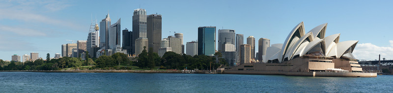 Sydney city and Opera House from ferry