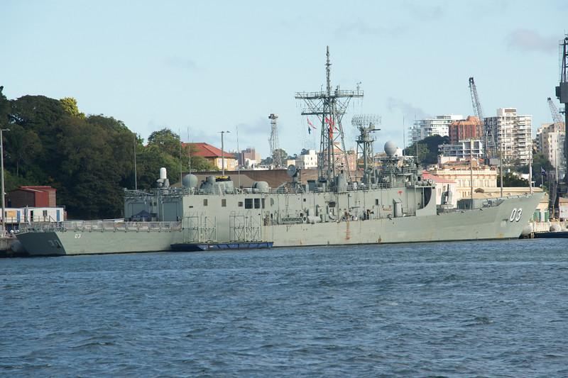 HMAS Sydney Adelaide Class FFG 03 at Garden Island dockyard