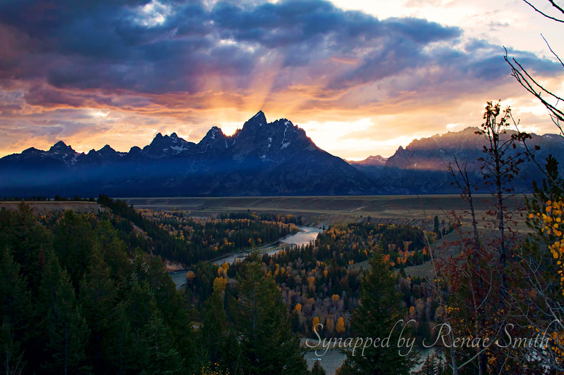 Snake River Overlook at sunset