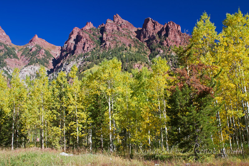 The view on the other side of the Maroon Bells