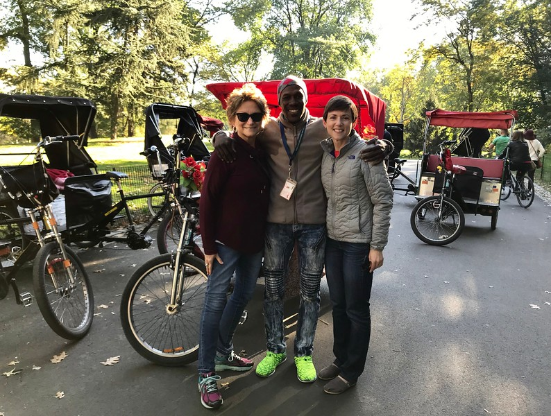 Dame, Mary and I before our tour of Central Park