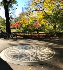 """The """"Imagine"""" memorial to John Lennon in Central Park"""