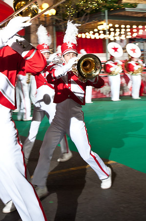 Aaron Coe in Macy's Great American Marching Band