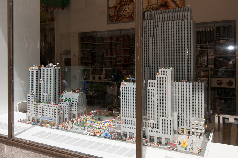 One of the few stores we visited at Rockefeller Center is the Lego Store.  Here, they have a miniture version of Rockefeller center, created with Legos.
