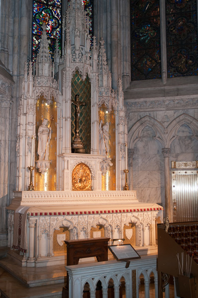An altar to Sts. Michael and Louis.