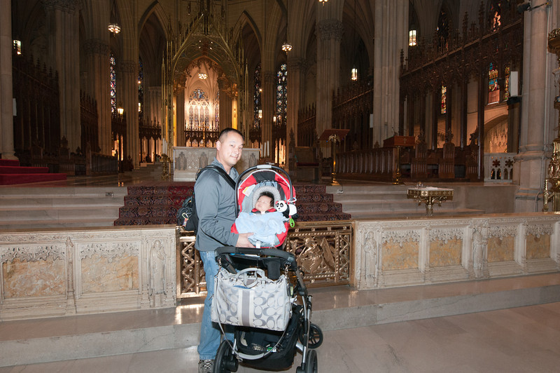 Lincoln and I at the foot of the altar.