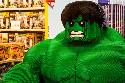 Lego Hulk at Toys'Rus in Times Square Canon 5D Mark III, 24-105mm F4.0L