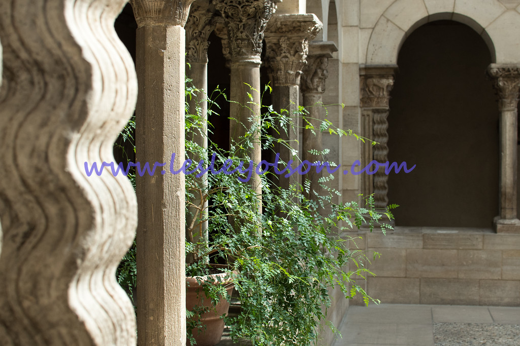An indoor courtyard at The Cloisters.<br /> Nikon D750 and 35mm lens.