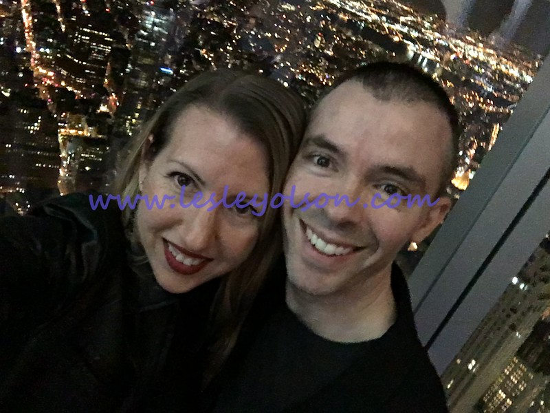 Lesley and Brian.  1 WTC observation deck.  On top of the world!<br /> iPhone 6S.