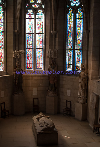 A chapel housing sarcophagi in The Cloisters.<br /> Nikon D750 and 35mm lens.