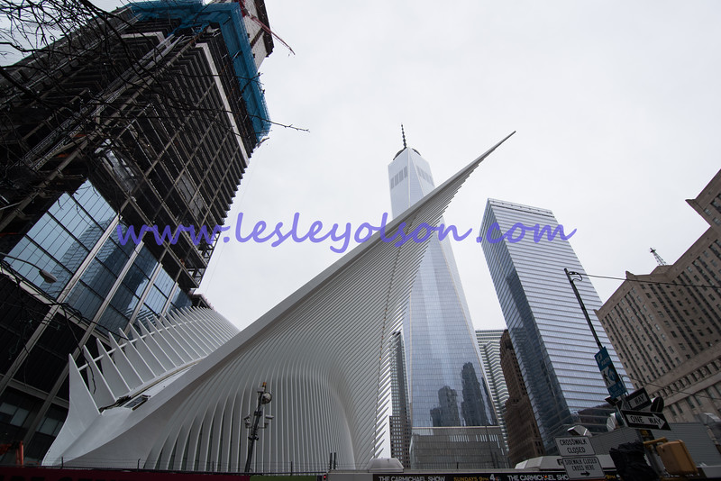 Oculus and 1 WTC looking east.<br /> Nikon D750 and Tokina 11-17mm lens.