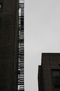 Fire escapes opposite the Guggenheim Museum