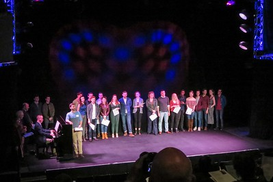 Webster Univeristy's senior  showcase braved a blizzard, and honored the late professor Byron Grant.