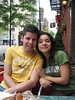 Ben and Stephanie, Saturday brunch at Parnell's.