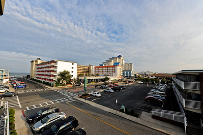 Ocean City, MD - strip of hotels along Baltimore, Ave.