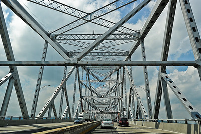 Tappan Zee bridge over the Hudson River.