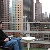 The view from the roof of our hotel in Midtown (the Podhotel)