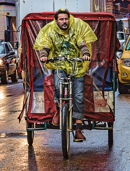 When he leased the pedicab, his mom told him there would be days like this.